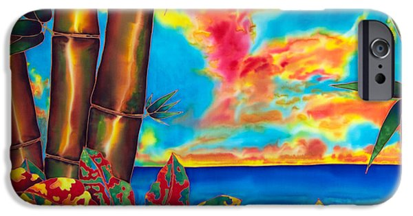 Sea Tapestries - Textiles iPhone Cases - Sky Fire iPhone Case by Daniel Jean-Baptiste