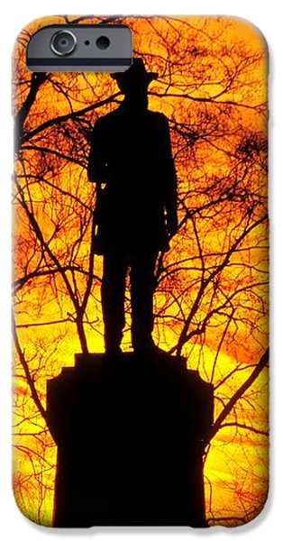 Sky Fire - Flames of Battle 50th Pennsylvania Volunteer Infantry-A1 Sunset Antietam iPhone Case by Michael Mazaika