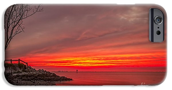 Gulf Shores iPhone Cases - Sky Fire iPhone Case by Marvin Spates