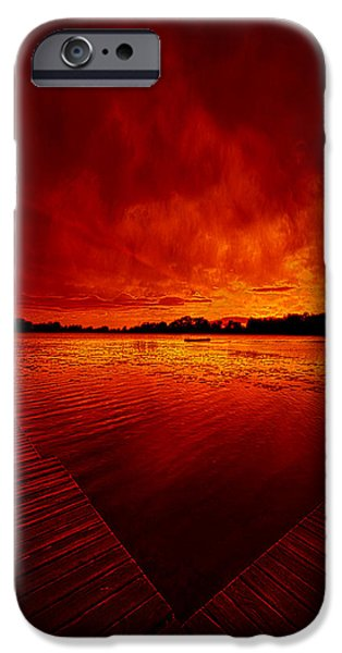Geographic iPhone Cases - Sky Fire iPhone Case by Phil Koch