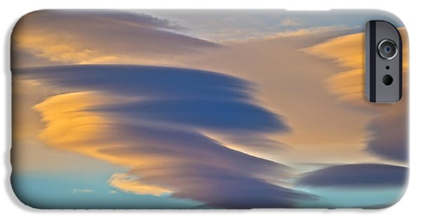 Disc iPhone Cases - Sky Ghosts... iPhone Case by Nina Stavlund