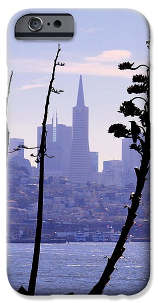 Buildings By The Ocean iPhone Cases - Sky Lines of SF iPhone Case by Nick Busselman