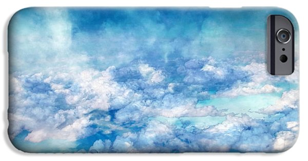 Stratosphere iPhone Cases - Sky Moods - A View From Above iPhone Case by Glenn McCarthy