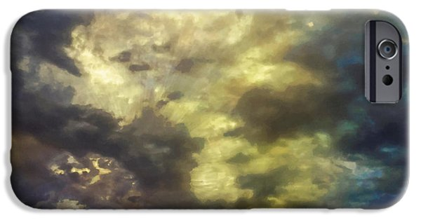 Stratosphere iPhone Cases - Sky Moods - Abstract iPhone Case by Glenn McCarthy Art and Photography