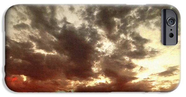Stratosphere iPhone Cases - Sky Moods - Stoking The Coals iPhone Case by Glenn McCarthy