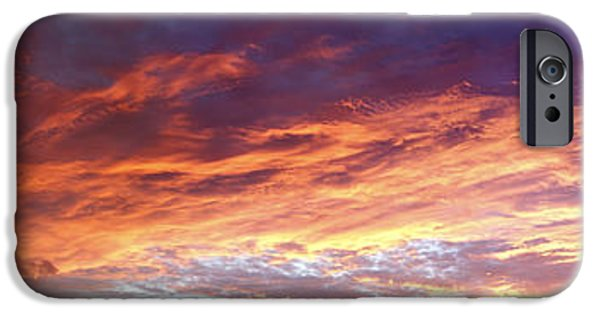 Summer Light iPhone Cases - Sky on fire iPhone Case by Les Cunliffe