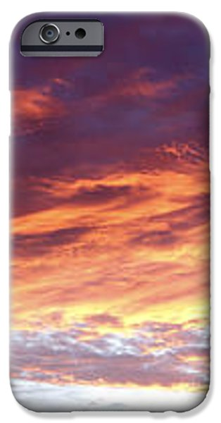 Sky on fire iPhone Case by Les Cunliffe