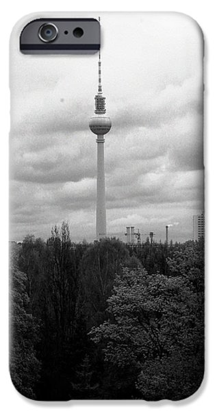 Rainy Day iPhone Cases - Sky over Berlin iPhone Case by Stefan Kuhn