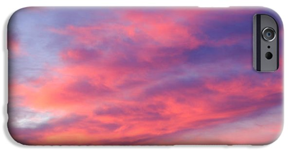 Pinks iPhone Cases - Sky sunset iPhone Case by Gina Dsgn