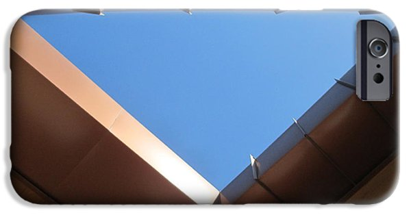Penetration iPhone Cases - Sky Triangle iPhone Case by Randall Weidner