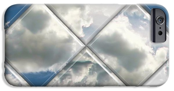 Business Digital Art iPhone Cases - Sky Watch iPhone Case by Wendy J St Christopher
