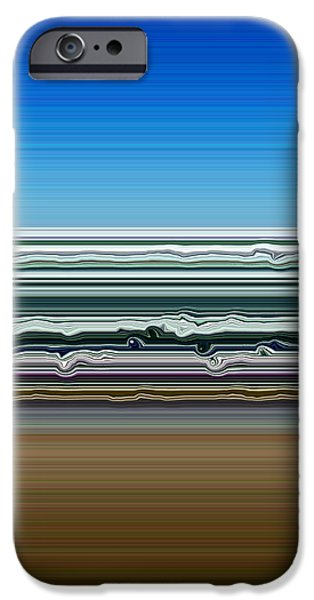 Abstract Seascape iPhone Cases - Sky Water Earth iPhone Case by Michelle Calkins