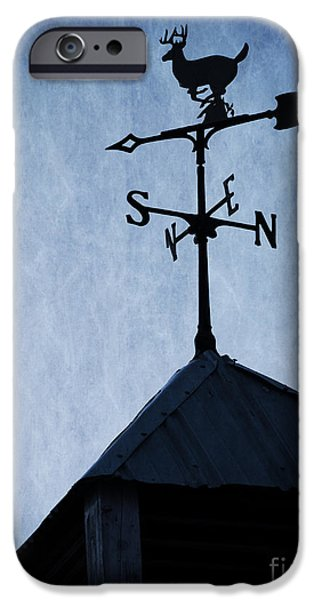 Weathervane Photographs iPhone Cases - Skyfall Deer Weathervane  iPhone Case by Edward Fielding