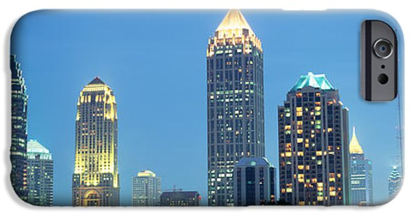 Glass Reflections iPhone Cases - Skyline Atlanta Ga Usa iPhone Case by Panoramic Images