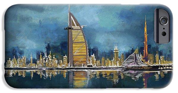 Arab iPhone Cases - Skyline Burj-ul-Khalifa  iPhone Case by Corporate Art Task Force