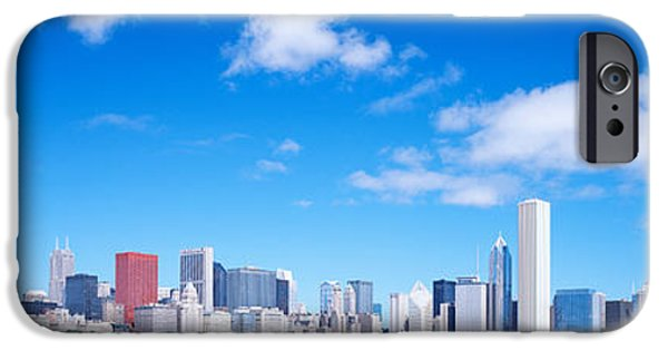 Lake Front iPhone Cases - Skyline, Chicago, Illinois, Usa iPhone Case by Panoramic Images