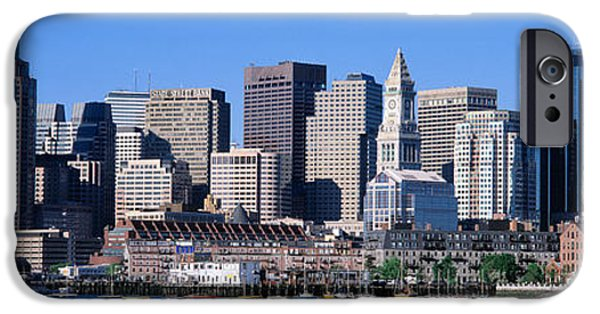 Boston Ma iPhone Cases - Skyline, Cityscape, Boston iPhone Case by Panoramic Images