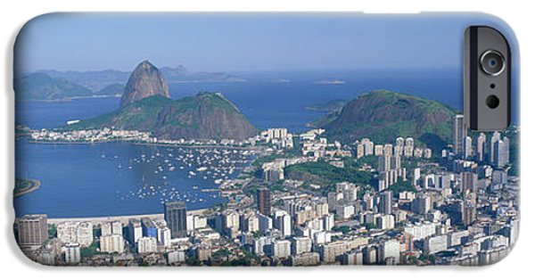Brasil iPhone Cases - Skyline, Cityscape, Coastal City, Rio iPhone Case by Panoramic Images