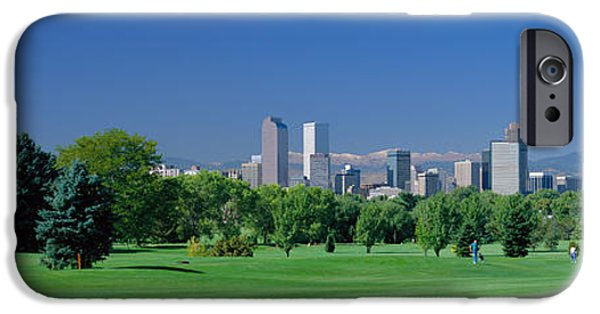 Finance iPhone Cases - Skyline In Daylight, Denver, Colorado iPhone Case by Panoramic Images