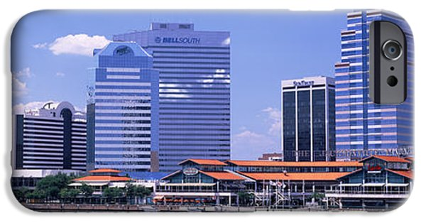 St. Johns River iPhone Cases - Skyline Jacksonville Fl Usa iPhone Case by Panoramic Images