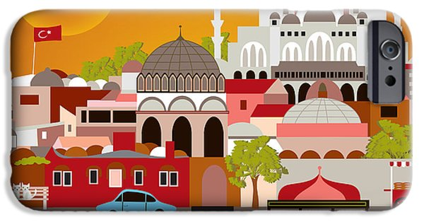 Istanbul iPhone Cases - Skyline iPhone Case by Karen Young