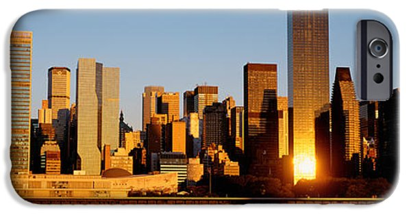 Nation iPhone Cases - Skyline, Manhattan, New York State, Usa iPhone Case by Panoramic Images
