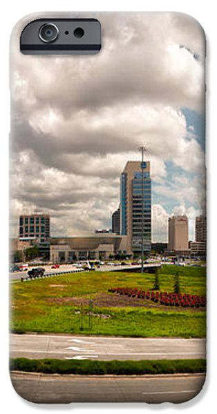 Skyline of Charlotte Towers iPhone Case by Alexandr Grichenko
