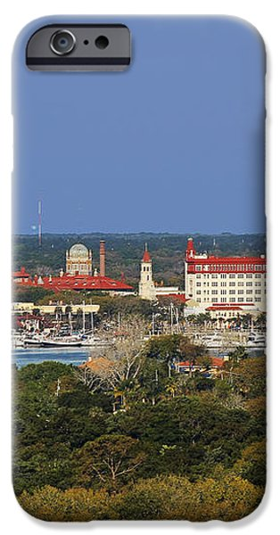 Skyline of St Augustine Florida iPhone Case by Christine Till