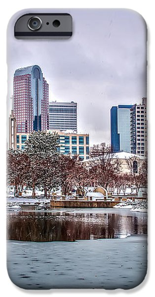 Skyline of uptown Charlotte North Carolina at night iPhone Case by Alexandr Grichenko