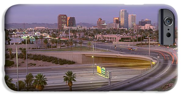 Merging iPhone Cases - Skyline Phoenix Az Usa iPhone Case by Panoramic Images