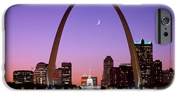 Finance iPhone Cases - Skyline, St. Louis, Mo, Usa iPhone Case by Panoramic Images