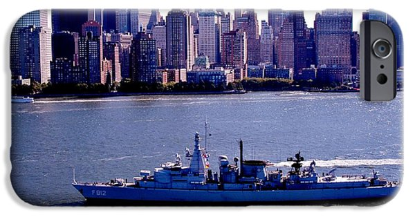 Hudson River iPhone Cases - Skyline Steaming iPhone Case by Benjamin Yeager