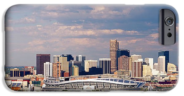 Tall Trees iPhone Cases - Skyline With Invesco Stadium, Denver iPhone Case by Panoramic Images