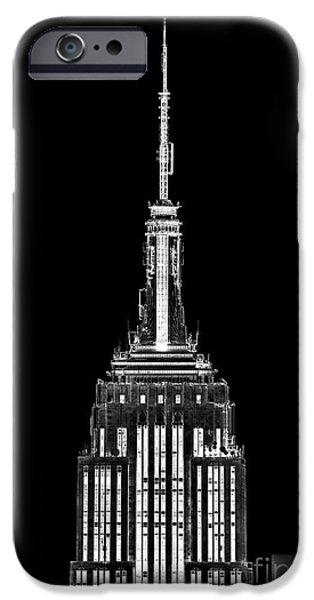 Building Feature iPhone Cases - Skyscraper iPhone Case by Az Jackson