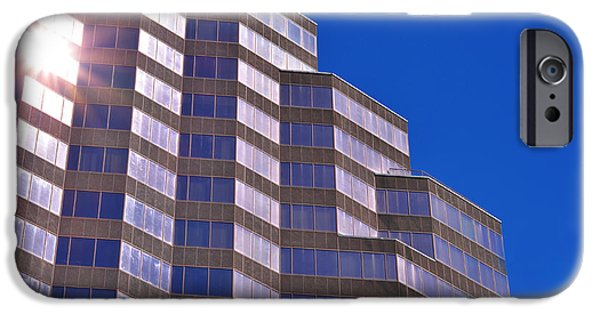 Architect iPhone Cases - Skyscraper Photography - Downtown - By Sharon Cummings iPhone Case by Sharon Cummings