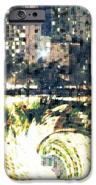 Interior Scene Mixed Media iPhone Cases - Skyscraper Reflection Painting iPhone Case by PainterArtist FIN