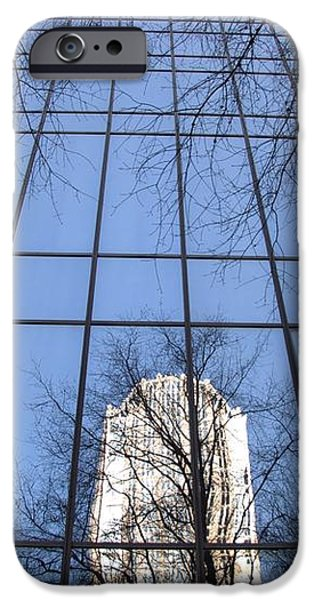 Skyscraper Reflections - Charlotte NC iPhone Case by Shelia Kempf