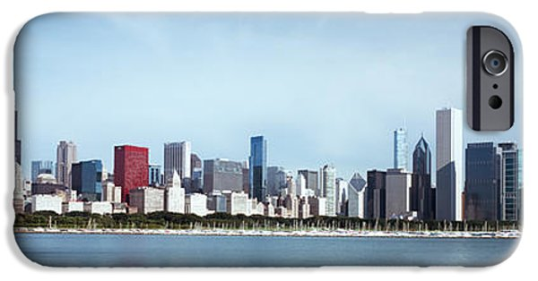 Chicago iPhone Cases - Skyscrapers At The Waterfront, Lake iPhone Case by Panoramic Images
