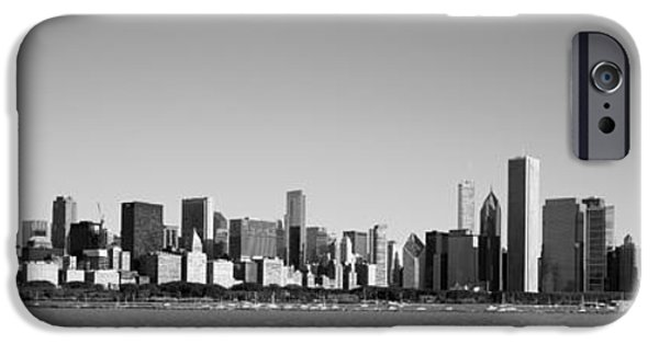 Willis Tower iPhone Cases - Skyscrapers At The Waterfront, Willis iPhone Case by Panoramic Images