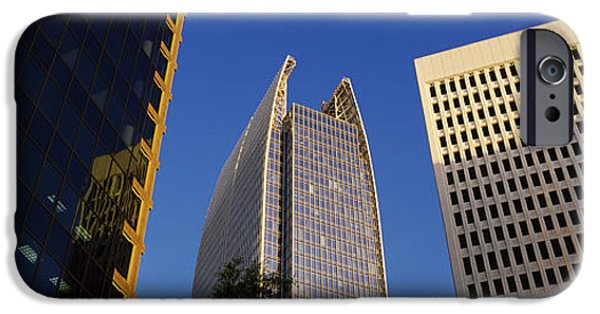 Architectural Feature iPhone Cases - Skyscrapers In A City, Atlanta, Fulton iPhone Case by Panoramic Images