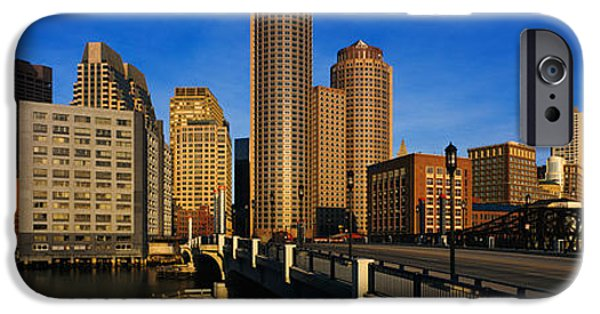 City. Boston iPhone Cases - Skyscrapers In A City, Boston iPhone Case by Panoramic Images