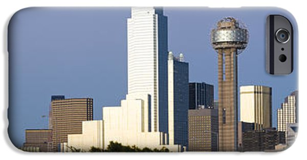 Observation iPhone Cases - Skyscrapers In A City, Reunion Tower iPhone Case by Panoramic Images