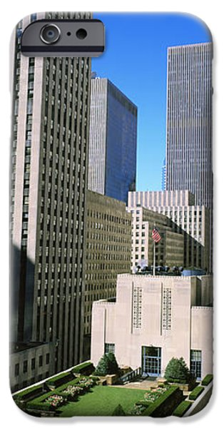 Garden Scene iPhone Cases - Skyscrapers In A City, Roof Garden iPhone Case by Panoramic Images