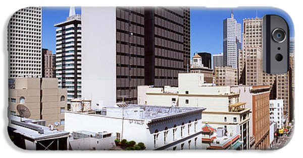 Union Square iPhone Cases - Skyscrapers In A City Viewed From Union iPhone Case by Panoramic Images