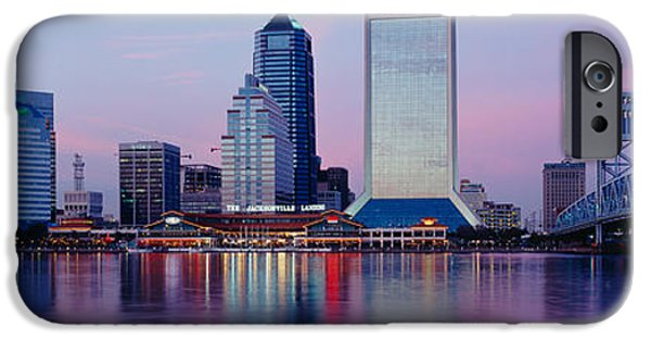 St. Johns River iPhone Cases - Skyscrapers On The Waterfront, St iPhone Case by Panoramic Images