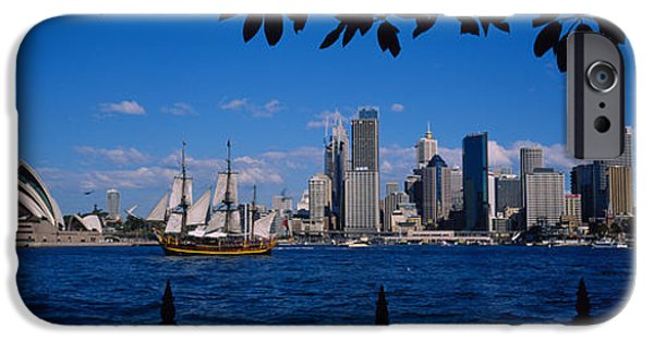 Connection iPhone Cases - Skyscrapers On The Waterfront, Sydney iPhone Case by Panoramic Images