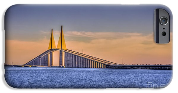 Gulf Of Mexico iPhone Cases - Skyway Bridge iPhone Case by Marvin Spates