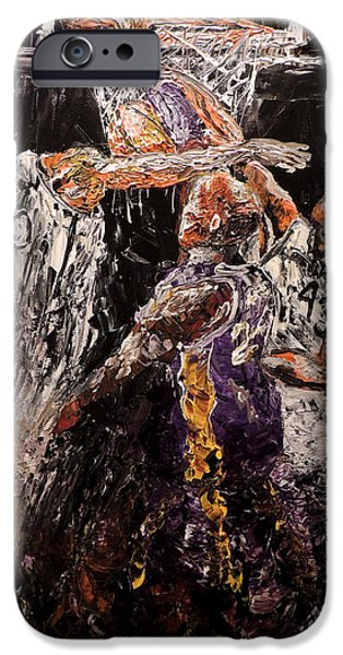 Dunk Paintings iPhone Cases - Slam Dunk iPhone Case by Mark Moore