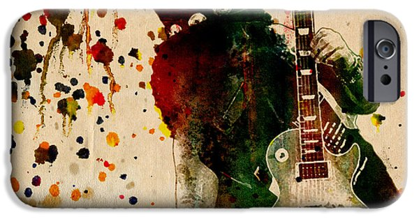Axl Rose iPhone Cases - Slash - Watercolor Print from Original  iPhone Case by Ryan RockChromatic