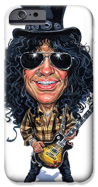 Recently Sold -  - Celebrities Art iPhone Cases - Slash iPhone Case by Art